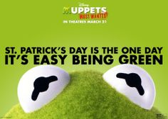 Easy to be green today. #Muppets