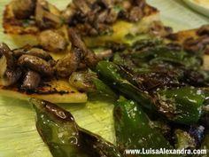 Tapas de Cogumelos Salteados e Pimentos Padron com Azeite e Flor de Sal photo DSC07628.jpg