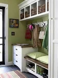 Mud Room - bench and drawers