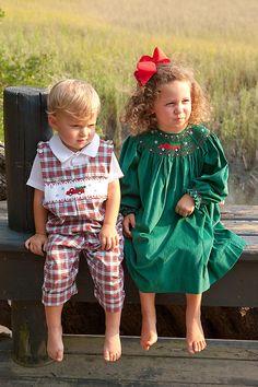 So sweet smock christma, kid cloth, christmas dresses