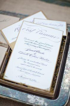Vintage invites