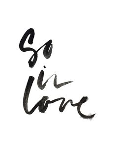 so in love #typography