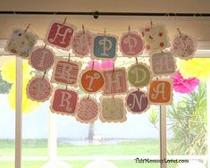 DIY Banners clothespin, happy birthdays, birthday banners, birthday parties, printable templates, letter, scrapbook paper, card stock, 2nd birthday