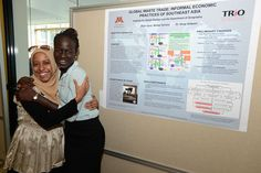 (L-R) Lolla Mohammed Nur, 2010 McNair Scholar and Sijin Ojulu, 2012 McNair Scholar. Photo by Patrick O'Leary