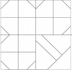 great pattern info - Shamrock Quilt Block