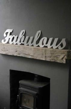 "metal ""fabulous"" sign"