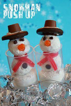 Snowman Push Pops