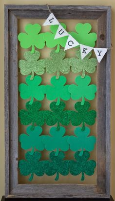 St. Patrick's Day Shamrocks - this would be fun hung on the front door too!