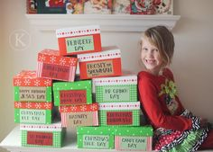 12 Days of Christmas activity boxes...I would love to do this for the actual 12 days of Christmas...the 12 days starting with Christmas Day