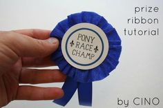 craftiness is not optional: prize ribbon tutorial