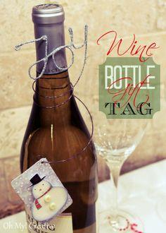 wire wine, glitter wine, gift tags, bottl gift, wine bottles