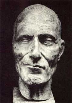 Julius Ceasar - death mask. Did they even do death masks back then??