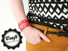 DIY - How to create cute bracelets with duct tape and studs! - YouTube