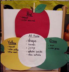 cute venn diagram idea - apple theme