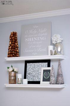 Christmas Shelf Deco