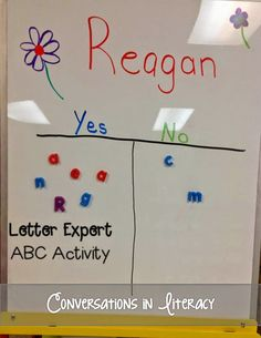ABC Letter Activities: lots of pictures of ways to teach ABCS!!  Letter Expert is one!