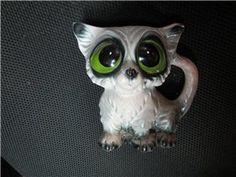 Vintage Retro Gig Style Big Eyed Sad Eyed Pity Kitty Cat Figurine Vase made in Japan  $49.00