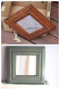 I turned an ugly Goodwill mirror into something lovely, using @Cabot Woodcare Premium Wood Finish.  It was easy, not-scary, and cleaned up with water.