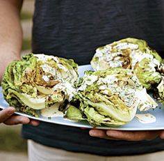 grilled butter lettuce with buttermilk chive dressing
