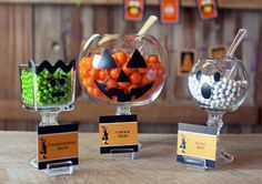 Dollar store bowls and candlesticks! Genius! #halloween