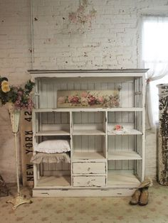 Painted Cottage Chic Shabby Cape Cod Farmhouse Cabinet [CC50] - $995.00 : The Painted Cottage, Vintage Painted Furniture