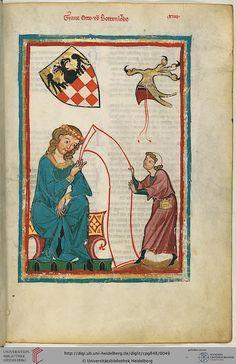Codex Manesse, Graf Otto von Botenlauben, Fol 027r, c. 1304-1340