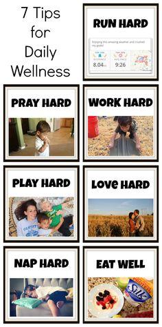 7 Tips for Daily Wellness - Run, Pray, Work, Play, Love, Nap, Eat. @lovemysilk #silkproteinpower