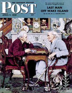 Saturday Evening Post - 1943-04-03: April Fool, 1943 (Norman Rockwell)
