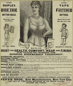 1887 Women and Children Corsets Ad  - from digitalgallery.nypl.org
