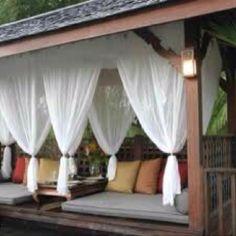 Cute outdoor lounge area
