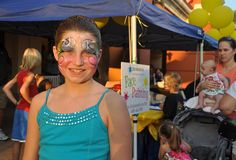 """Face painting at HarborWalk Village...my """"grands"""" LOVE this:)"""