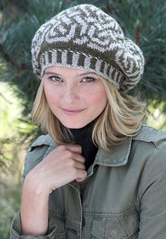 Patons Classic Wool Worsted - Celtic Fair Isle Beret (free knitting pattern)