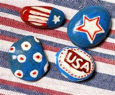Patriotic rock painting. I used to paint rocks for hours and hours when I was a kid!!!