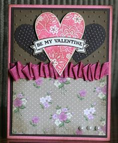 Stampin' Up!  Be My Valentine  Krystal De Leeuw