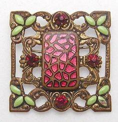 Art Nouveau Enamel Brooch