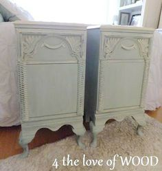 Shabby Chic Bedside Cabinets 4 the love of wood: paris blue nightstands