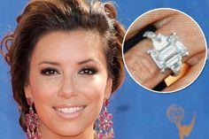 eva longoria's engagement ring #engagementring #evalongoria  #engagement #celebrityengagement #wedding
