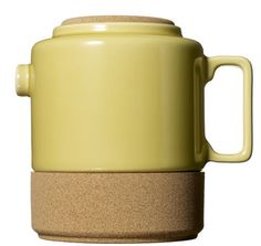 Ceramic and cork teapot from Portugal.  #product  #design  #tea  #teapot
