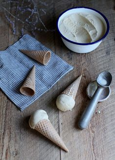 Earl grey and lemon zest ice cream