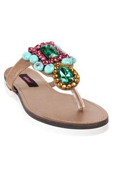 Deb Shops #beaded slip on #sandal