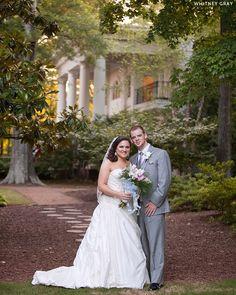 Real wedding of Daniel & Mary-Eleanor at Magnolia Manor, Colfax, NC. {southern plantation outdoor wedding. greensboro wedding. triad weddings} Image by Whitney Gray Photography.