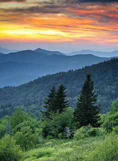 Fire in the Mountains - Landscape Photography by Dave Allen