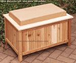 "Storage Bench - Ice Chest Cooler - 2 1/2"" Wide"