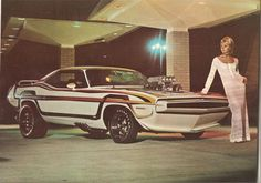 Plymouth Barracuda, 1 & only. This was an ad for rapid transit system.