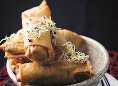 Prawn and vegetable spring rolls