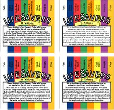 yw lds, church treasur, lds fun, young women, girl camp, women idea, yw stuff, yw camp, life savers