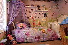Fairy bedroom I created for my granddaughter, Riley.