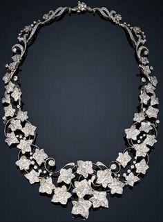 "Diamond ""Ivy"" necklace by Tiffany  Co., circa 1895"