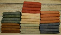 VINTAGE MUTED SHADES_1 hand-dyed by Wool-N-Wares @ http://stores.shop.ebay.com/wool-n-wares