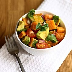 Sweet Potato & Avocado Salsa, need I explain more? kitchens, avocado salad, avocado salsa, food, potatoes, avocadosalsa, recip, salads, sweet potato